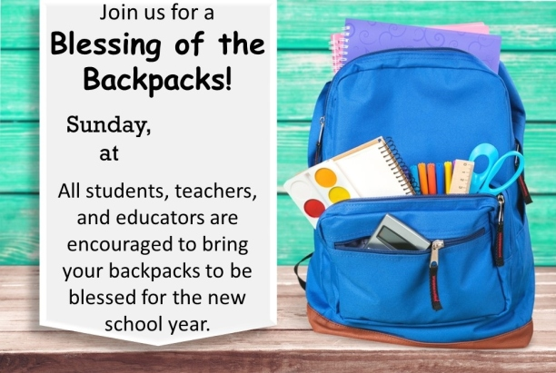 Backpack Blessing Invitation